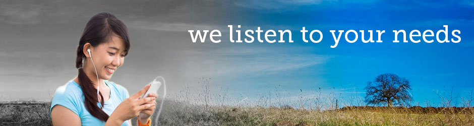 About us: we listen to your needs
